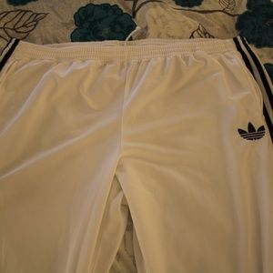 3XL Adidas White Old school track pants